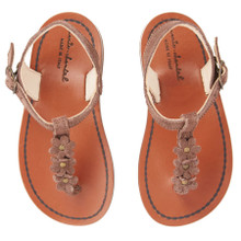 BROWN FLOWER SANDALS