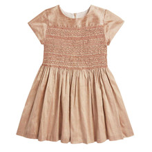 SILK HAND SMOCKED PARTY DRESS