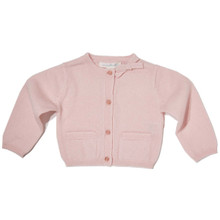CASHMERE BOW BABY CARDIGAN