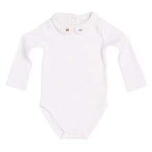 PETER PAN COLLAR ONESIE WITH CAT MOTIF EMBROIDER