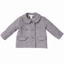 BABY GIRL HERRINGBONE COAT