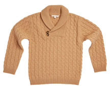 SHAWL NECK CASHMERE SWEATER