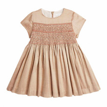 MINI SILK HAND SMOCKED PARTY DRESS