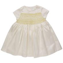 Mini Summer Silk Hand Smocked Dress