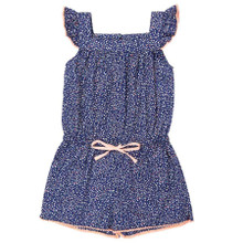 Liberty Print Pom Pom Playsuit