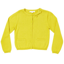 Summer Bow Cotton Cardigan - Lime