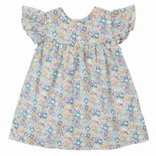 Liberty Floral Flutter Sleeve Dress with bloomers - Mint/Lavender