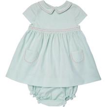 Mini Poplin Dress - Misty Blue