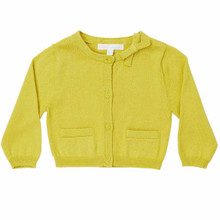 Mini Summer Bow Cotton Cardigan - Lime