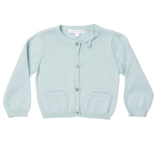 Mini Summer Bow Cotton Cardigan - Mint