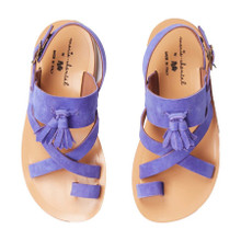 SUEDE SANDALS - Purple
