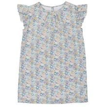Liberty Floral Flutter Sleeve dress - Mint/Lavender
