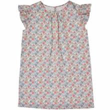 Liberty Floral Flutter Sleeve dress - Pink/Grey