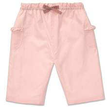 COTTON PULL ON TROUSER - PALE PINK