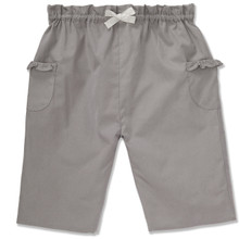 COTTON PULL ON TROUSER - MID GREY