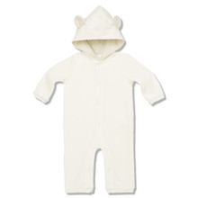 VELOUR BEAR SUIT - CREAM