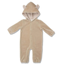 VELOUR BEAR SUIT - CARAMEL