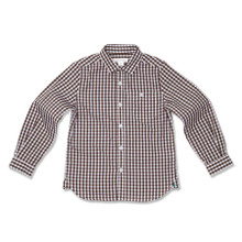 CLASSIC COTTON CHECK SHIRT - BROWN
