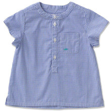 SHORT SLEEVE SHIRT - BLUE GINGHAM