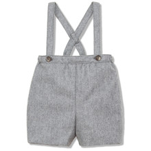 SUSPENDER WOOL SHORT - GREY