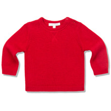 ELBOW PATCH SWEATER - RED