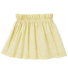 Printed Full Skirt - YELLOW BUTTERFLY PRINT