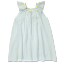FLOATY PURE SILK DRESS - AQUA