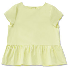 CITRUS PEPLUM TOP - LIME