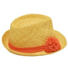 Straw Hat - Plain Flower