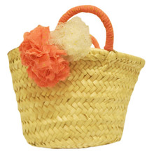 Straw Bag - Plain Flower