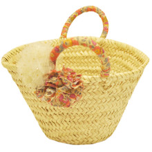Straw Bag - Liberty Print