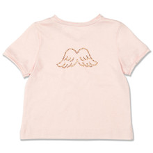 BABY DIAMANTE WING TEE - PALE PINK