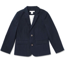 SLIM FIT SUIT JACKET - DARK NAVY