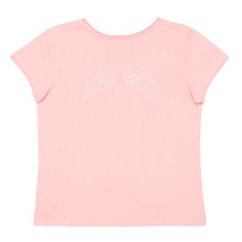 DIAMANTE WING TEE - ROSE/SILVER