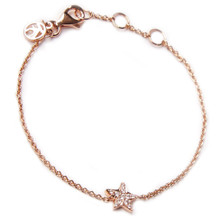 Mini Diamond Star Bracelet - Rose Gold