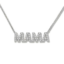 MAMA NECKLACE - WHITE GOLD