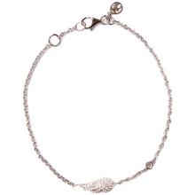 Angel Wing Diamond Bracelet - White Gold