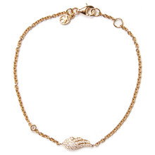 Angel Wing Diamond Bracelet - Yellow Gold