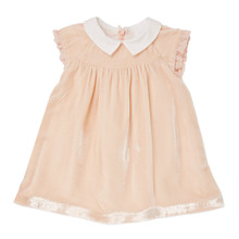 Mini Velvet Dress - Pale Pink