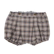 Classic Tartan Bubble Shorts - Grey/Camel