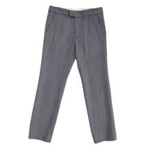 Flannel Formal Trousers - Grey