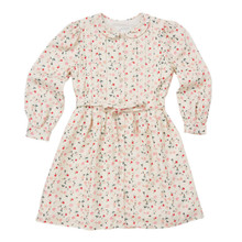 Bloom Wind Print Dress - Cream/Pink