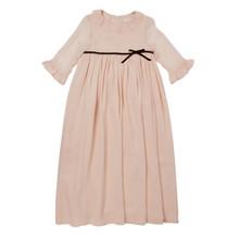 Long Silk Princess Dress - Pale Pink