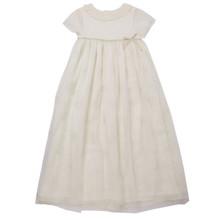 Long Silk Princess Dress - Ivory