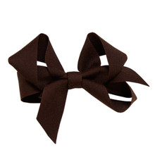 Medium Hair Bow - Brown