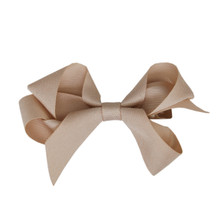 Medium Hair Bow - Oatmeal