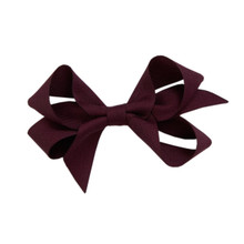 Medium Hair Bow - Currant