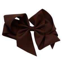 Large Hair Bow - Brown