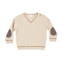 Mini Cashmere V-Neck Sweater - Oatmeal