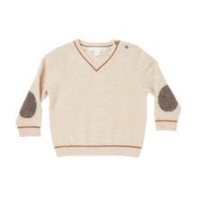 Mini Cashmere V-Neck Sweater - Oatmeal